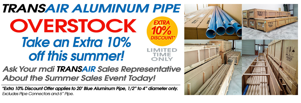 Transair Pipe Overstock Sale